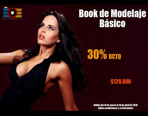 30% descuento book de modelaje